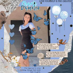 charlidamelio charli tiktok cute aesthetic blue cyan quotes paper newspapee loveyoumystars freetoedit
