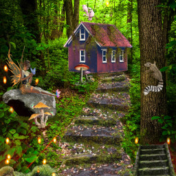 fairytail forest nature myedit madewithpicsart freetoedit
