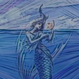 mermaid sea underthesea fantasy magic myimagination freetoedit