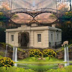 @asweetsmile1 background deer blendedimages blend creative creativeart freetoedit