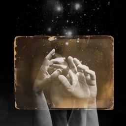 poetry oldphoto frame sepia stars