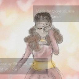 hamilton fictionalcharacters girl drawing sketch art angelica angelicaschuyler pink yellow heart hearts peach girldrawing