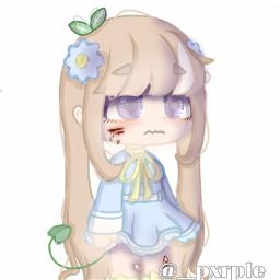 anime girl animegirl gachaclub gacha gachagirl flowers softedit :d lol gachalife animegacha
