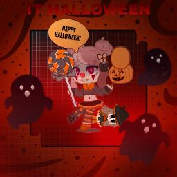 halloween happyhalloween ghosts picsart picsartisthebest redandblack freetoedit