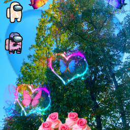 interesting art nature photography cupcakes pinkrosecupcakes heart hearts amongus butterfly butterflies heartchain freetoedit