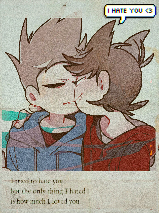 Some Tomtord for ya since people don't like it when i post other ships lol #tomtord #ship #eddsworld #quickedit #eddsworldship #allshipsarevalid #tom #tord #eddsworldtord #eddsworldtordtom #eddsworldtomtord #blue #red #ihateyou #iloveyou #gay #aesthetic #edit #gay