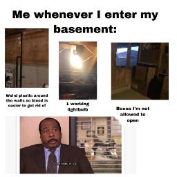 scary creepy basement theoffice