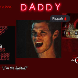 daddy klausmikaelson red freetoedit