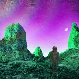 freetoedit strange planet astronaut journey cosmicbrilliance universe