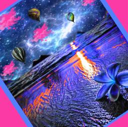 beachlife effects water flowers tropical hotairballoons pinkcloudsforever interesting art space stars night nature paradise purplesparkles oceanwaves love light sundown dark zen relax dreaming euphoria freetoedit