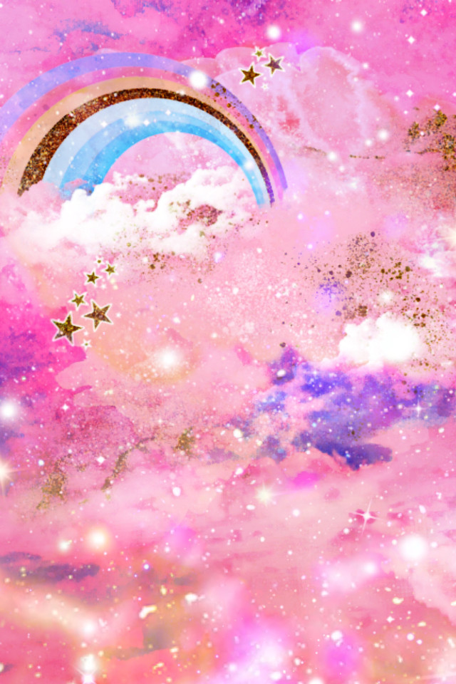 #freetoedit @mpink88 #glitter #sparkle #galaxy #clouds #stars #rainbow #pink #pastel #kawaii #magical #dream #cute #golld #cosmos #background #overlay #wallpaper