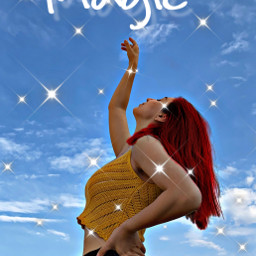 magic sparkle fx fyp sticker replay remix picsart arm legs yellowaesthetic redaesthetic blueaesthetic yellow red blue sky jeans dyinghair freetoedit