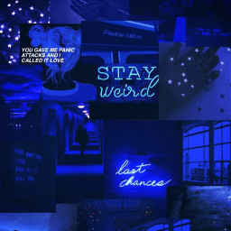 darkblue blue aesthetic aestheticcollage darkblueaesthetic starrynight nightsky love sad blueskyaesthetic