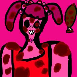 freetoedit piggy piggyroblox blood pig peppa pepapig