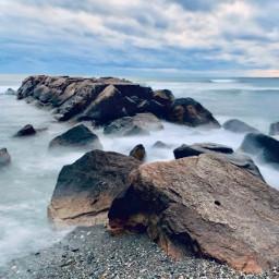 newport rhodeisland seashore longexposure