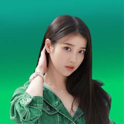 kpop soloist iu green remixit loveu freetoedit
