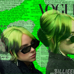 freetoedit eilish billieeilish fanart back