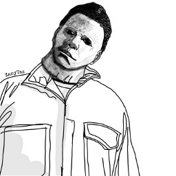 halloween michaelmyers williamshatner mask outline drawing colorme editme freetoedit