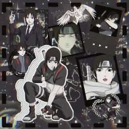 anime manga otaku japan weeb naruto shippuden narutoshippuden sasuke sakura kakashi sai team7 black aesthetic blackaesthetic freetoedit