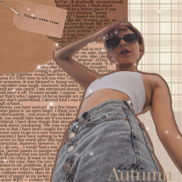 freetoedit freetoeditgirls brown brownaesthetic nude nudeaesthetic newspaper ripped autumn aesthetic fall girl woman fashion plaid pose freesticker