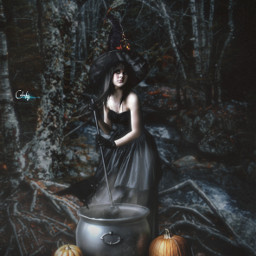 heypicsart madewithpicsart manipulation halloween halloweenscream witch forest colochis89 freetoedit