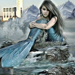 @asweetsmile1 mermaid lighthouse ocean blendedimages freetoedit