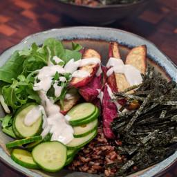 nori japan vegan vegetables sushi bowlfood delicious healthylife plantbased foodphotography goodporn lamadedis