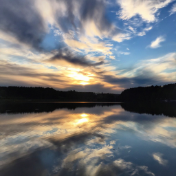 lake reflection landscape naturephotography clouds hdr panorama silence