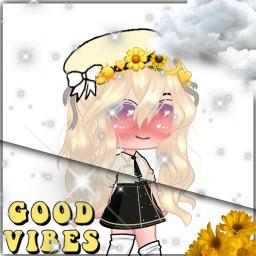 gacha aesthetic gachaaesthetic yellowaesthetic yellow pfp gachapfp goodvibes aestheticflowers flowers yellowflower. freetoedit yellowflower