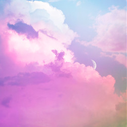 cloud clouds moon moons colorful rainbowcloud background backgrounds remixit freetoedit