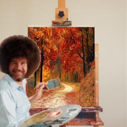 painter autumn orange october halloween fall viral famous addison avani zoe charli dunkin aesthetic powerfull crown freetoedit ircinnerartist innerartist