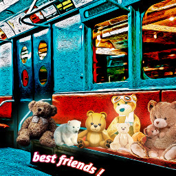 bestfriends frienda bears subway freetoedit