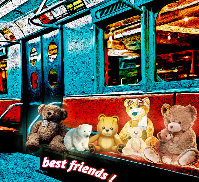 #bestfriends #frienda #bears #subway