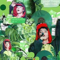 mylilkpopedits1600contest mylilkpopedit1600contest sanieseasoncontest kpop exo exochen edit aesthetic green freetoedit