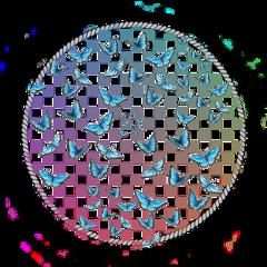 circle circlebackround aestheticcircle butterfly butterflys rainbowcheckerd rainbow checkerd freetoedit