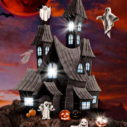 freetoedit halloween ghosts fantomes pumpkins citrouille house night planet fchappyhalloween2020 happyhalloween2020