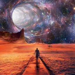 freetoedit myedit surreal galaxy universe space beach