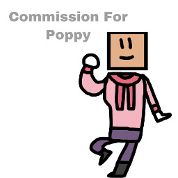 fixed reposted objectshowfan2003sanimations commission gift poppy box boxhead red pink redpink pinkred black white brown