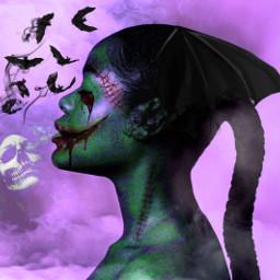 picsart makup halloween creepy myedit freetoedit