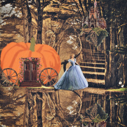 freetoedit cinderella castle fantasybackground land srcpumpkins