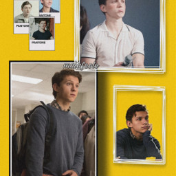 tomholland spiderman peterparker yellow avengers marvel marvelstudios marvelcomics tomholland_wifecontest freetoedit