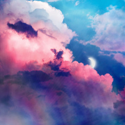 madewithpicsart background clouds sky moon colorful freetoedit