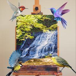 freetoedit birds painting madebyme vote4meplz mlbforever ircinnerartist innerartist