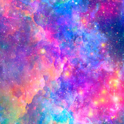 freetoedit glitter sparkle galaxy sky stars clouds colorful pink rainbow holographic aesthetic neon cute background overlay wallpaper