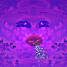 blowing purpleaesthetic purpleclouds eyes wind fairydust freetoedit