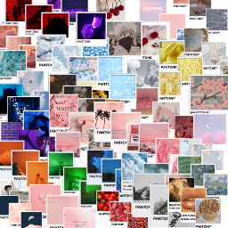 aesthetic art pantone pink green blue yellow orange purple cuteeee freetoedit