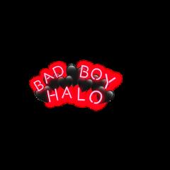 bad boy halo badboyhalo badboyhalosticker dreamteam black heart crown neon red freetoedit