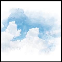 sky aquarelle watercolor cartoon art clouds painting freetoedit