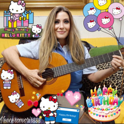 myself happybirthay guitar cute echappybirthdayhellokitty