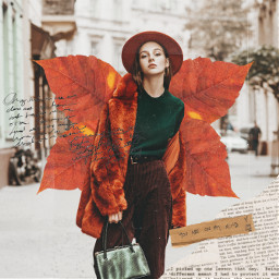 freetoedit fall fallmood fallingleaves fallseason fallstyle wings leaf leafwing collage collageart